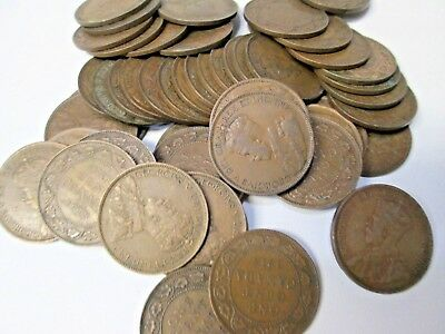 Lot of 50 1918 Canada Large Canadian Cent Coins