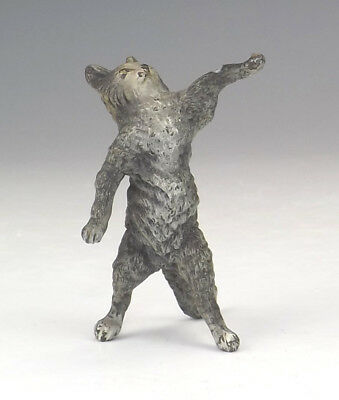 Antique Vienna Cold Painted Bronze Comical Cat Figure - Slight Damage But Lovely