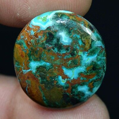 Aaa 26.80 Cts. 100% Natural Chrysocolla Oval Cab Loose Gemstones Ladylucklovers