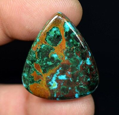 Rare 36.05 Cts. 100% Natural Chrysocolla Pear Cab Loose Gemstones Ladylucklovers