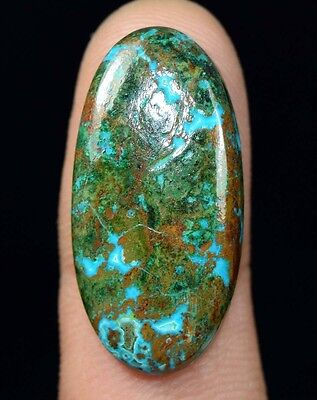 Aaa 25.85 Cts. 100% Natural Chrysocolla Oval Cab Loose Gemstones Ladylucklovers