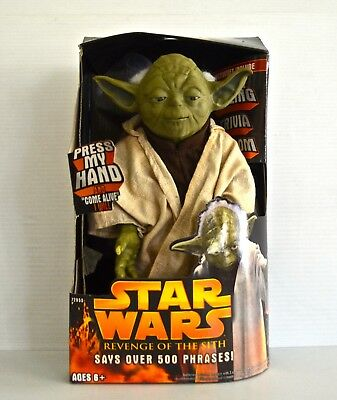 Star Wars Rots Call Upon Talking Yoda 500++ Phrases Nip Mint In Package