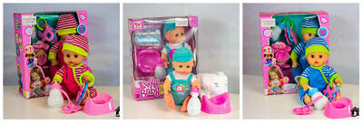 Realistic Newborn Baby Boy Girl Interactive Talking Doll Play Set Christmas Gift