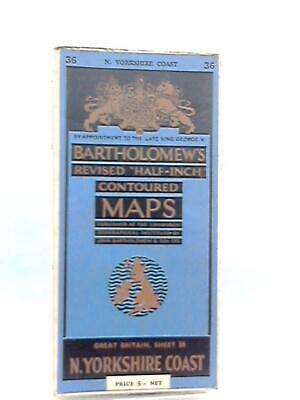 """Revised """"Half-Inch"""" Contoured Maps Sheet 36 N. Yorkshir (Anon - 1951) (ID:38609)"""
