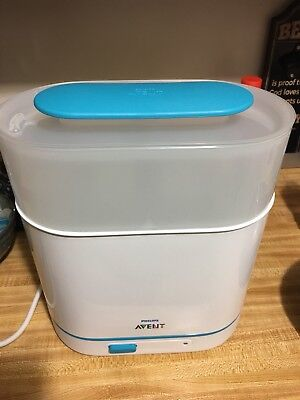 Philips AVENT 3-IN-1 Electric Steam Baby Infant Bottle Parts Sterilizer