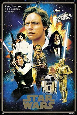 STAR WARS - 40TH ANNIVERSARY - HEROES COLLAGE POSTER 24x36 - MOVIE 85163
