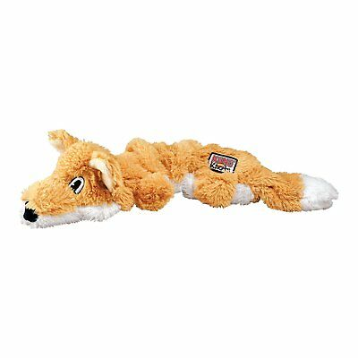 Kong Scrunch Knots Fox Medium/Large Stretchy Squeaky Rope Tug Teddy Dog Toy