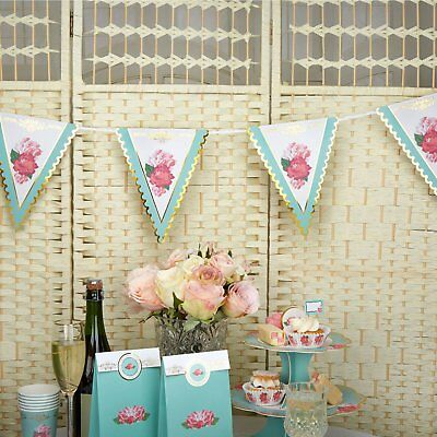 Eternal Rose Paper Bunting Wedding Decoration - 3.5m