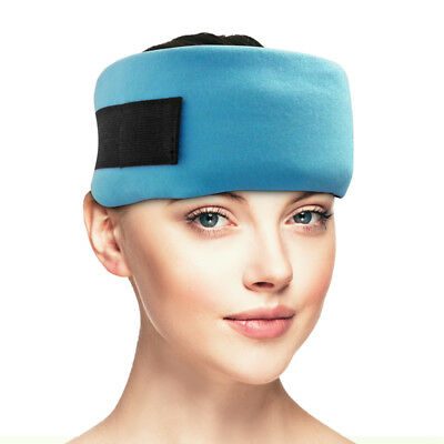 Dynamik Cold Gel Pack with Fabric Wrap for Headache, Migraine, Sinus Pain Relief