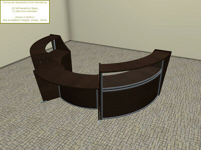 Phenomenal Large Round Reception Desk With Wheel Chair Accessible Ada Bralicious Painted Fabric Chair Ideas Braliciousco