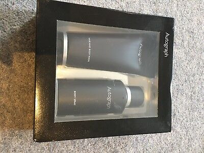 Marks And Spencer Autograph Mens Body Spray And Body/hair Wash