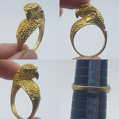 Beautiful gold plated lovely bird stunning ring