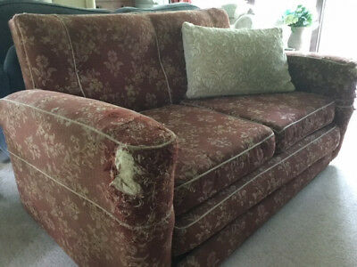 Vintage Retro Double Sofa Bed Settee By Vono 1940's / 50's