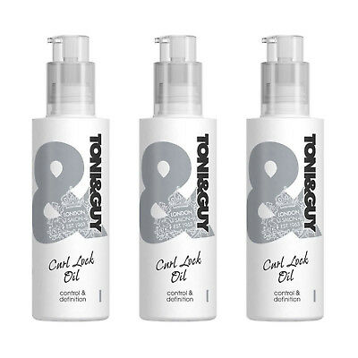3 X Toni And Guy Prep Curl Lock Oil 150ml - Control & Definition - only £9.99!!