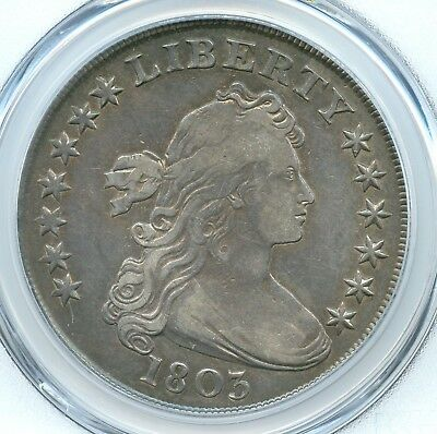1803 Large 3, Draped Bust Silver Dollar, PCGS VF30, Gold Shield
