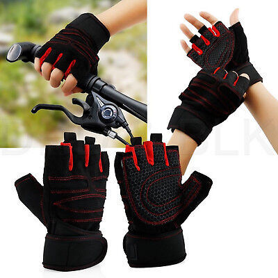 Weight lifting Gloves Gym Washable Workout Exercise Training Fitness Wrist Wrap