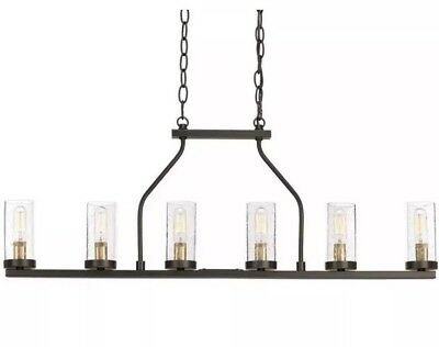 "New Progress Lighting P400127-020 Hartwell 34"" 6-Light Antique Bronze Chandelier"