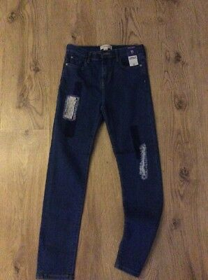 Brand New Girls Denim Jeans River Island 11 Years
