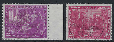 EAST GERMANY(DDR):1950  Leipzig Spring Fair  set SG E7-8 fine used