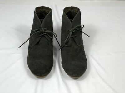 83326e99804 CROWN VINTAGE WOMENS Spark Chukka Boots Size 10M Gray Suede Wedge ...
