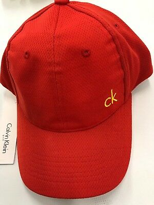445781b3b2a Calvin Klein Golf Mens CK Vintage Microfibre Cap Adjustable Hat. Red colour