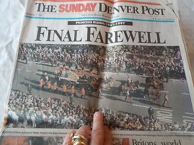 The Sunday Denver Post Newspaper Princess Diana Death 9/7/1997