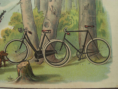 AK Litho All Heil Emil Kneiss Fahrrad 1900 antique bicycle velo ancien cpa velo