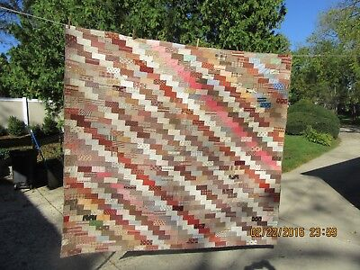 Vintage Primitive Thin Cotton Patch Work Quilt Display or Cutter  Homespun