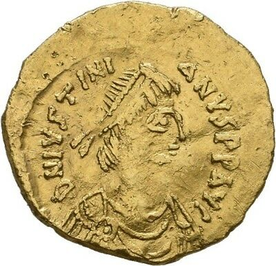 Lanz Byzantine Empire Justinian Tremissis Constantinople Victory Gold Av§goa2681