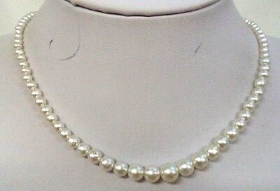 """Stunning Vintage Estate Signed Japan Faux Pearl Beaded 18"""" Necklace!!! 5043P"""