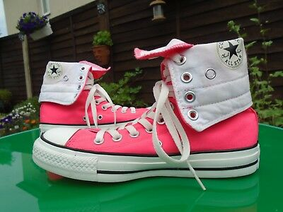 Converse All Stars Luminous Pink High Top Trainers Uk 4