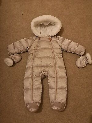 Ted Baker Baby Girls Snowsuit Age 3-6 Months