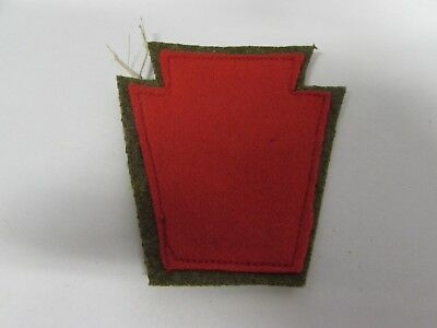WWI era US Army 28th infantry division the red keystone patch.