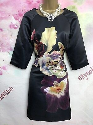 4af839a870f3 Ted Baker black, elegant, zip evening Occasion dress Size 4 UK Size 14 US