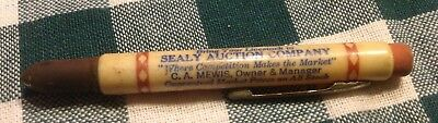 Vintage Bullet Pencil, Sealy, TX, Sealy Auction Company, C. A. Mewis, Owner