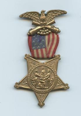 1800s CIVIL WAR VETERAN'S STAR & RIBBON MEDAL - EXCELLENT CONDITION - NO NUMBERS