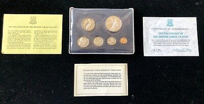 1974 First Coinage of the British Virgin Islands 6 Coin Proof Set Silver Dollar