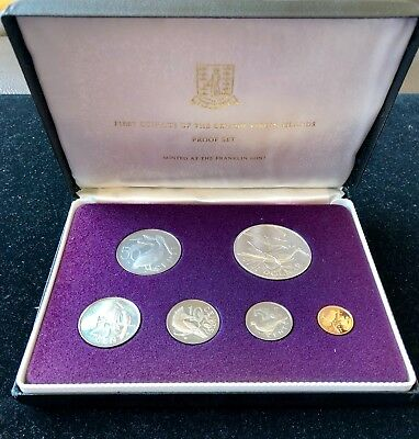 First Coinage of the British Virgin Islands 6 Coin Proof Set Silver Dollar