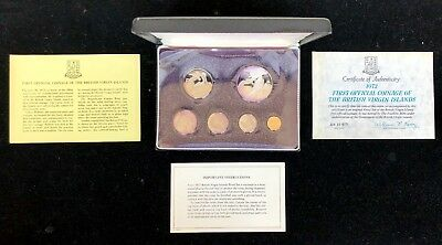 1973 First Coinage of the British Virgin Islands 6 Coin Proof Set Silver Dollar