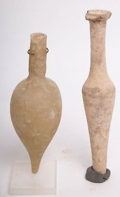 Lot of 2 Roman Glass/clay Vessels c.2nd-3rd century AD.