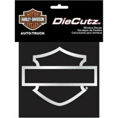Harley-Davidson Bar and Shield Die Cutz Silver Decal
