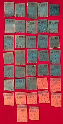 Large Lot of 37 1970's New York Rangers NHL Hockey Tickets Early Vintage Old NY