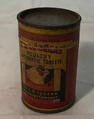 Dr Ld Legear Medicine Company Poultry Antiseptic Tablets Advertising
