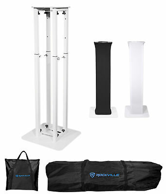 (1) Rockville RTP32W Totem Moving Head Light Stand+Black+White Scrims+Carry Bags