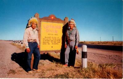 New Mexico - Navajo Indian Chief and his brother at the Continental Divide