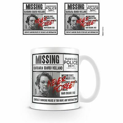 Stranger Things Netflix Missing Barb Póster Cerámica Taza de Café