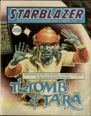 The Tomb Of Tara,starblazer Space Fiction Adventure In Pictures,no.110,1983