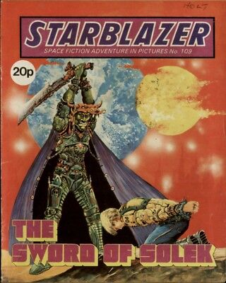 The Sword Of Solek,starblazer Space Fiction Adventure In Pictures,no.109,1983