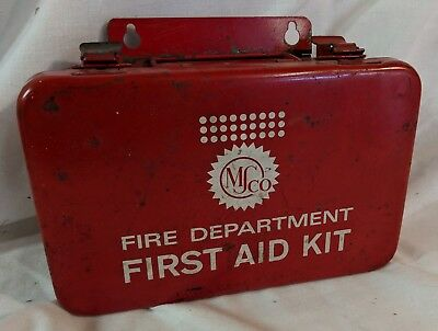 MS Co. MSco Medical Supply Company Fire Department  VINTAGE - First Aid Kit