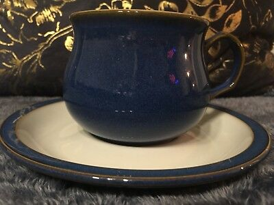 Stunningly Beautiful Denby Imperial Blue Cup And Saucer